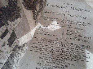 The Wonderful Magazine and Marvellous Chronicle title page